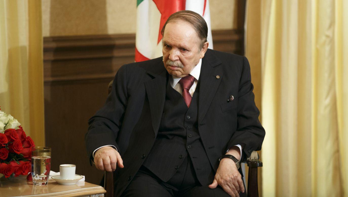 82-letni Abdelaziz Bouteflika rządzi Algierią od 1999 roku (fot. Thomas Trutschel/Photothek via Getty Images)