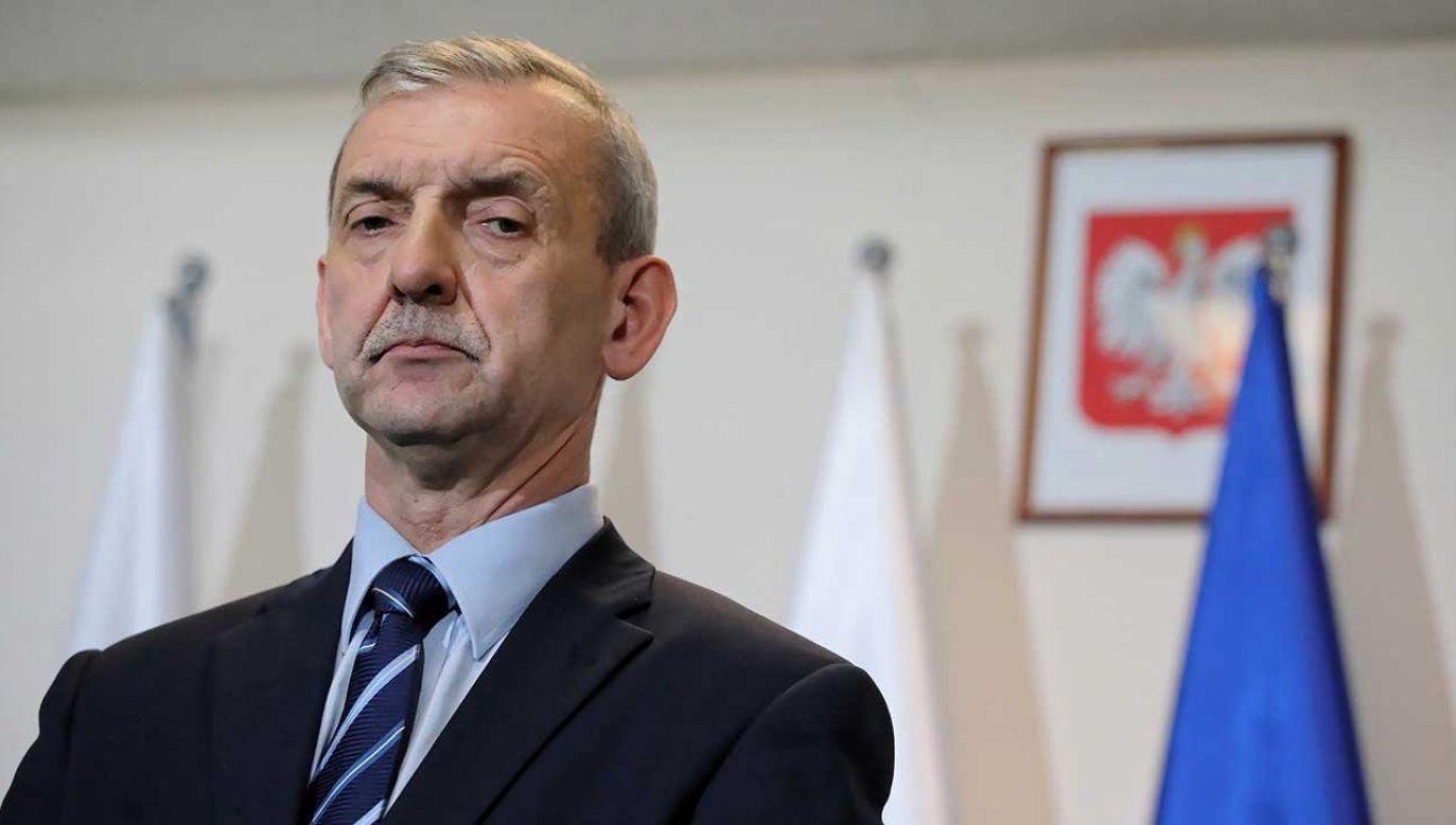 Przewodniczący ZNP  Sławomir Broniarz (fot. PAP/Tomasz Gzell)