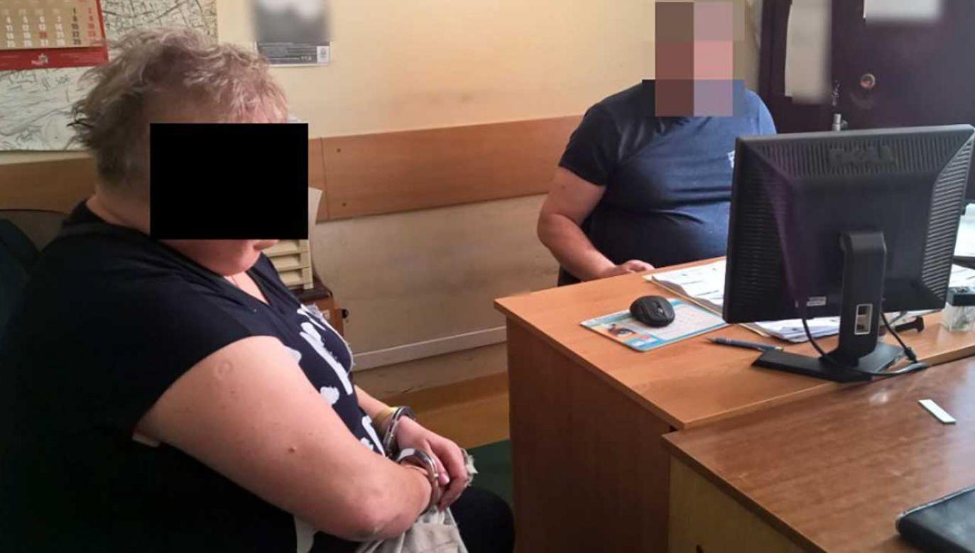 Bożena K. została tymczasowo aresztowana na trzy miesiące (fot. policja.pl)