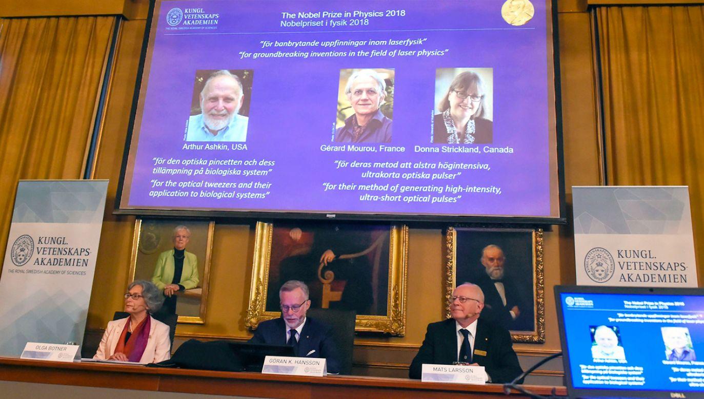 Troje naukowców z prestiżowym wyróżnieniem (fot. PAP/EPA/Hanna Franzen)
