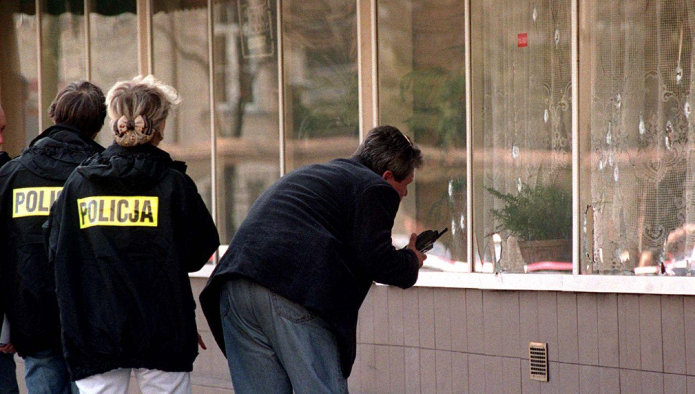 Pięciu mężczyzn zostało zastrzelonych 31 marca 1999 r. w warszawskiej restauracji Gama przez trzech zamaskowanych osobników (fot. arch. PAP / Radek Pietruszka)