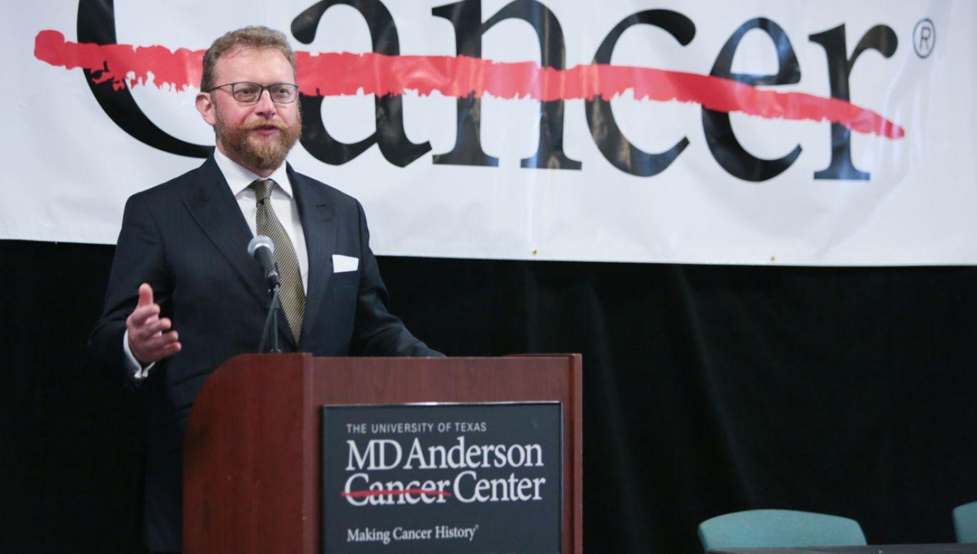 W USA podpisano umowy o współpracy w zakresie nowych technologii w leczeniu raka (fot. PAP/Leszek Szymański)