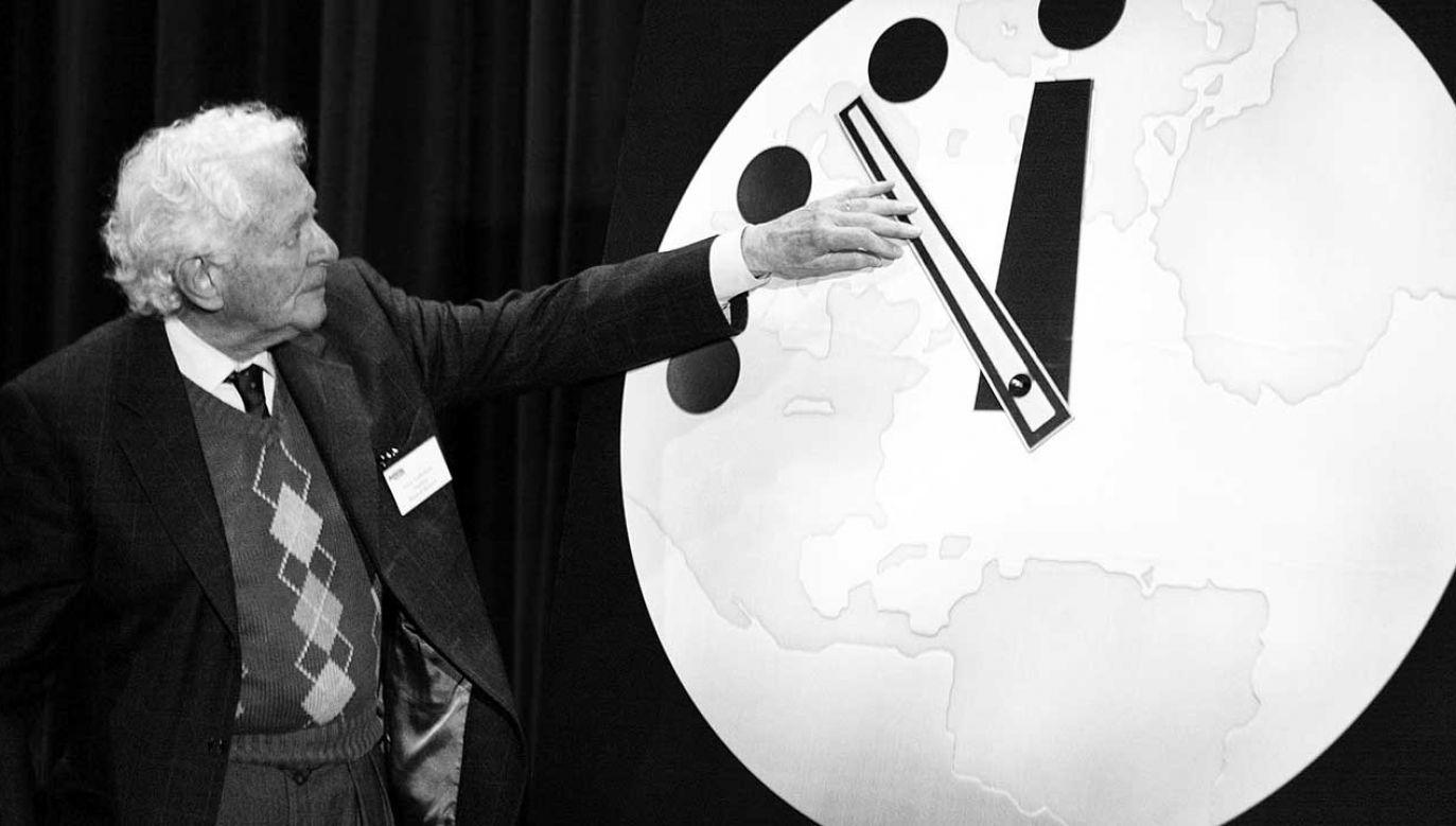 Leon Lederman zmarł w wieku 96 lat  (fot. arch. PAP/EPA PHOTO AFPI/SCOTT OLSON/sjo/eh/ja)