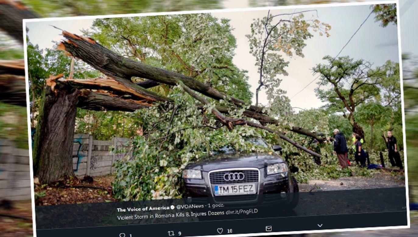 Nwałnica wyrządziła wiele szkód (fot. twitter.com/VOANews)