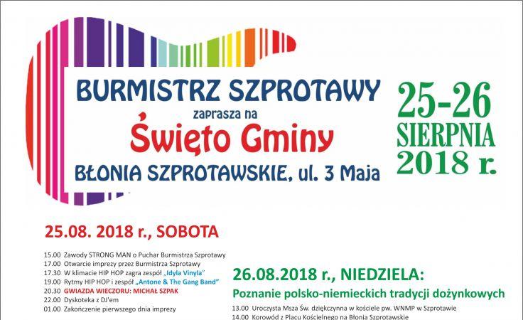 ŚWIĘTO GMINY SZPROTAWA