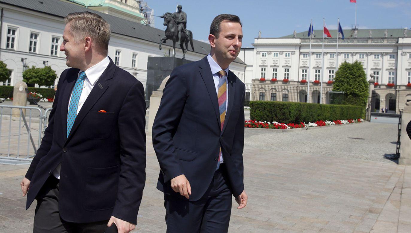 Jakub Stefaniak i Władysław Kosiniak-Kamysz (fot. arch.PAP/Tomasz Gzell)