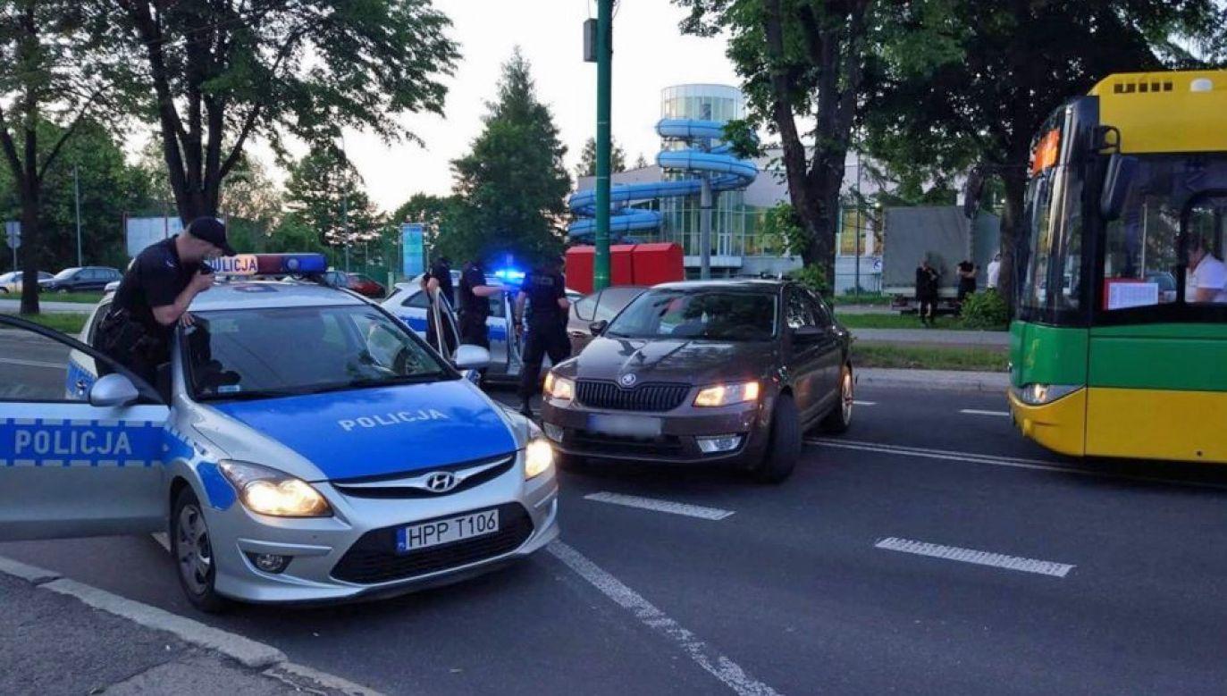 Policja ustala tożsamość chuliganów (fot. KMP Tychy)