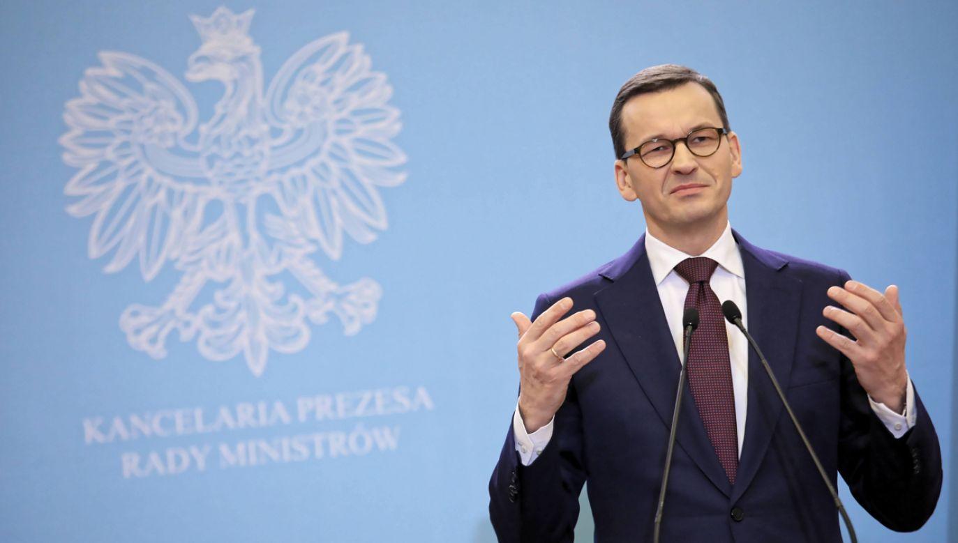 Premier dzień po pogrzebie prezydenta Gdańska wystąpił z apelem do wszystkich polityków, do ludzi mediów, kultury (fot. arch. PAP/Leszek Szymański)