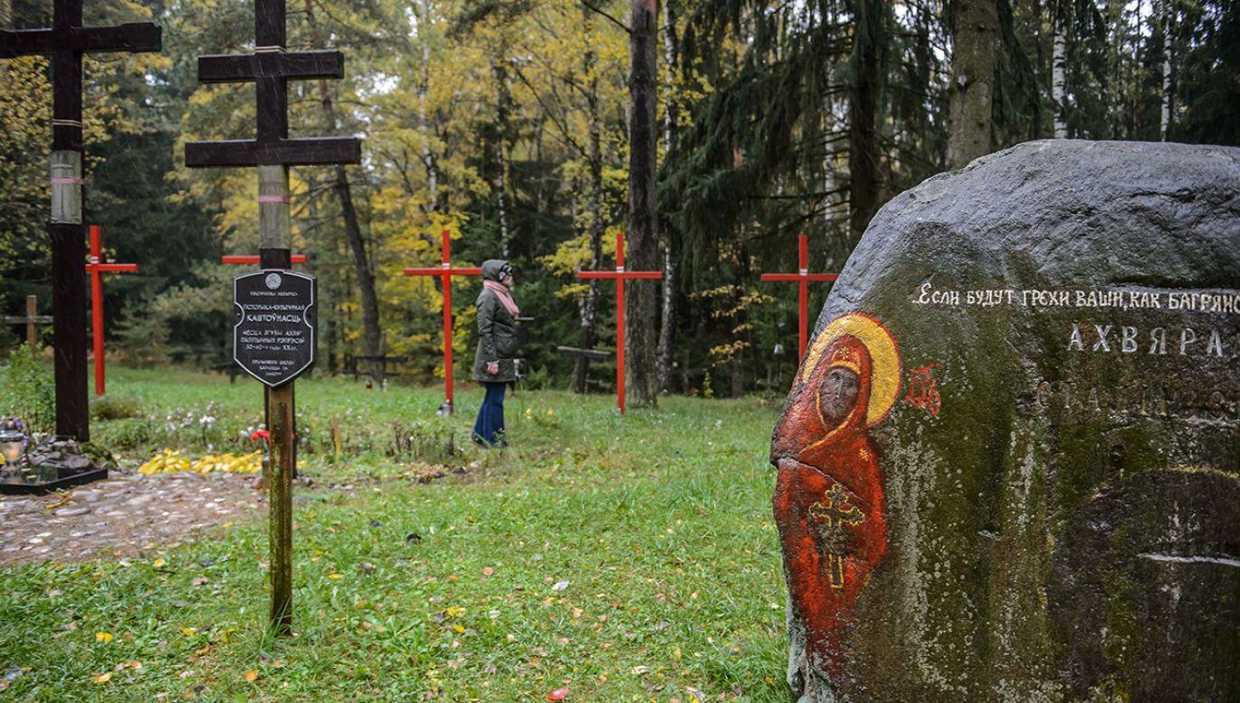 Kuropaty, uroczysko na skraju Mińska na Białorusi, na którym odkryte zostały masowe groby ofiar NKWD, rozstrzelanych w latach 1937–1941 (fot. PAP/Wojciech Pacewicz)