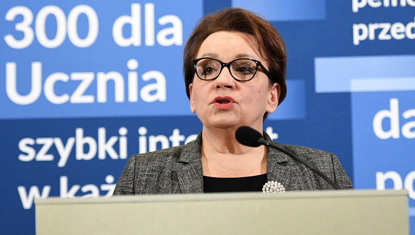 Minister Anna Zalewska jest w stałym kontakcie z szefem MSWiA Joachimem Brudzińskim (fot. PAP/Jacek Turczyk)