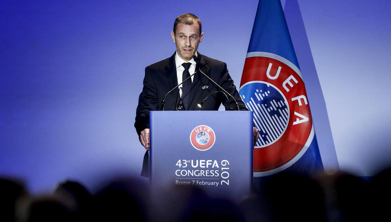 51-letni działacz, z wykształcenia prawnik, to siódmy szef UEFA w historii tej organizacji, nie licząc prezydentów tymczasowych (fot. PAP/EPA/FABIO FRUSTACI)