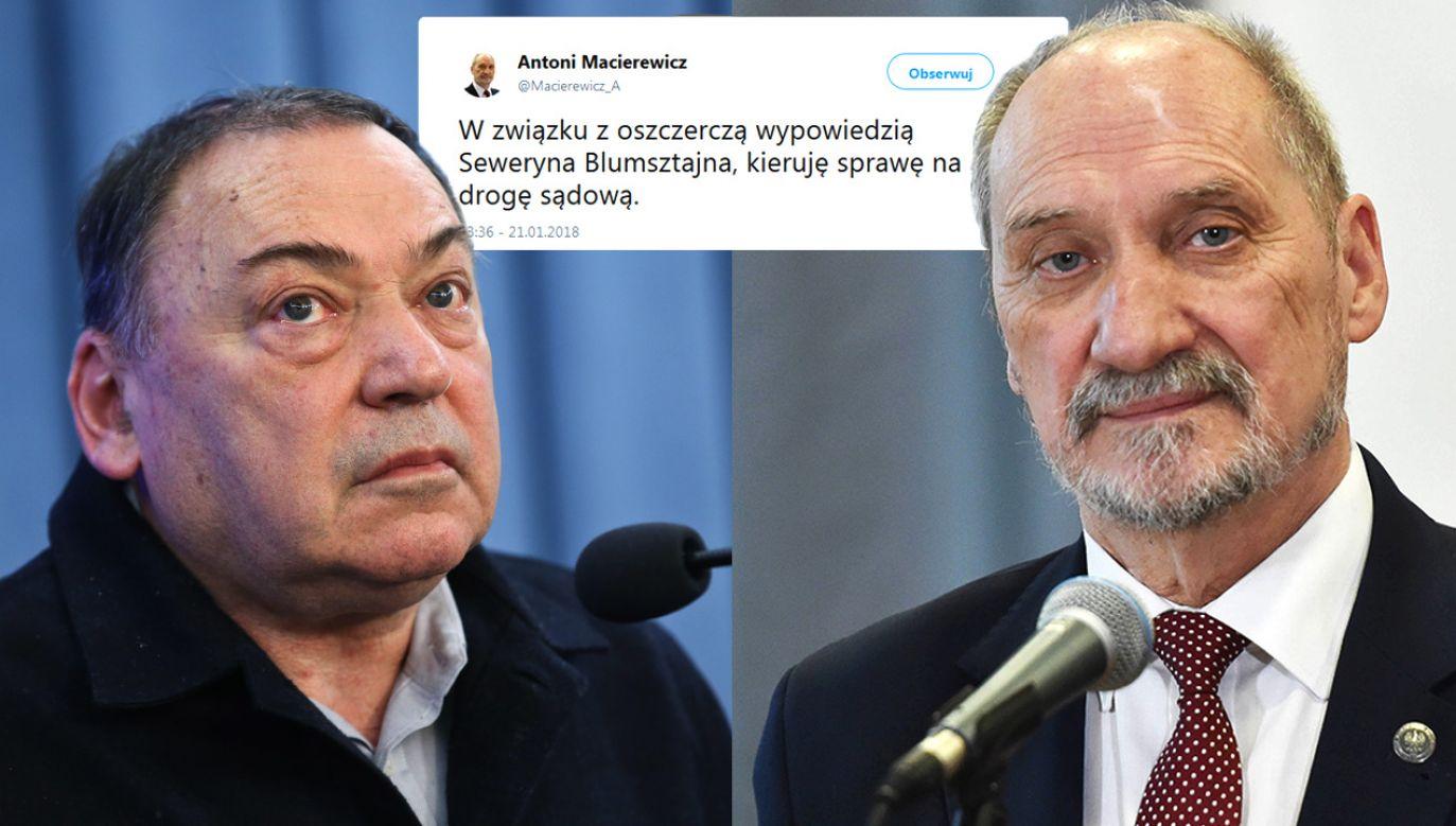 Antoni Macierewicz, Seweryn Blumsztajn (fot. PAP/Jacek Bednarczyk/PAP/Rafał Guz)