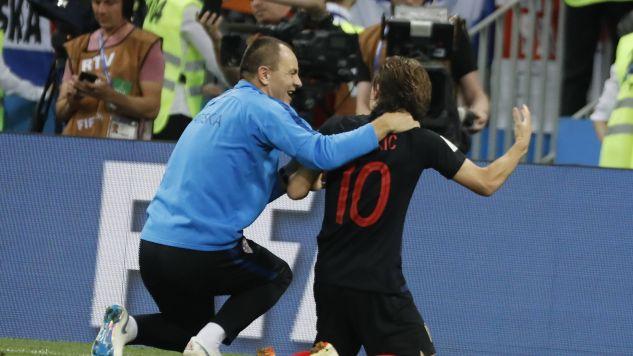 Chorwacja wygrała półfinał z Anglią (fot. PAP/ABACA/Szwarc Henri)