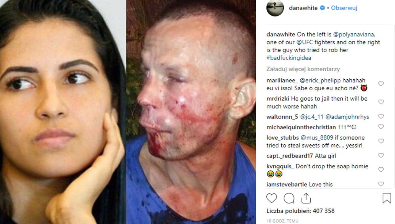 Mężczyzna został przewieziony do szpitala (fot. Instagram)