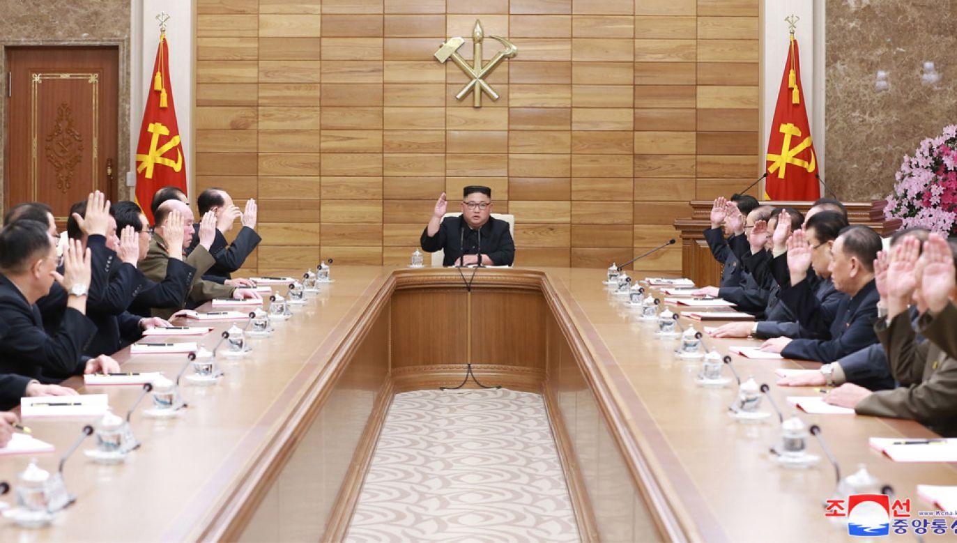 Kim Dzong Un dotąd nie spotkał się z Władimirem Putinem (fot. PAP/EPA/KCNA)