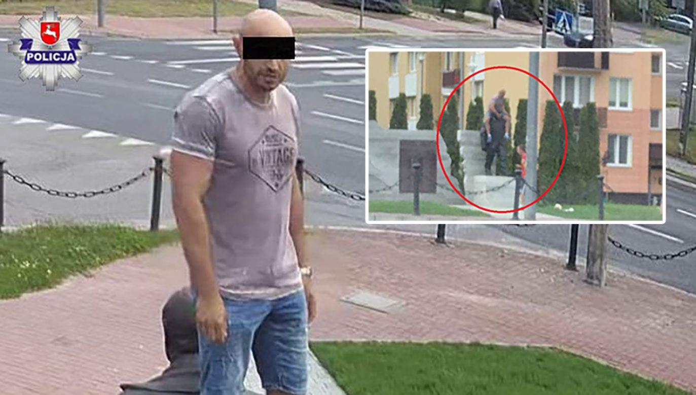 Dzięki miejskiej kamerze funkcjonariusze Komendy Powiatowej Policji w Kraśniku zidentyfikowali wizerunek sprawcy zdarzenia (fot. krasnik.lubelska.policja.gov.pl)