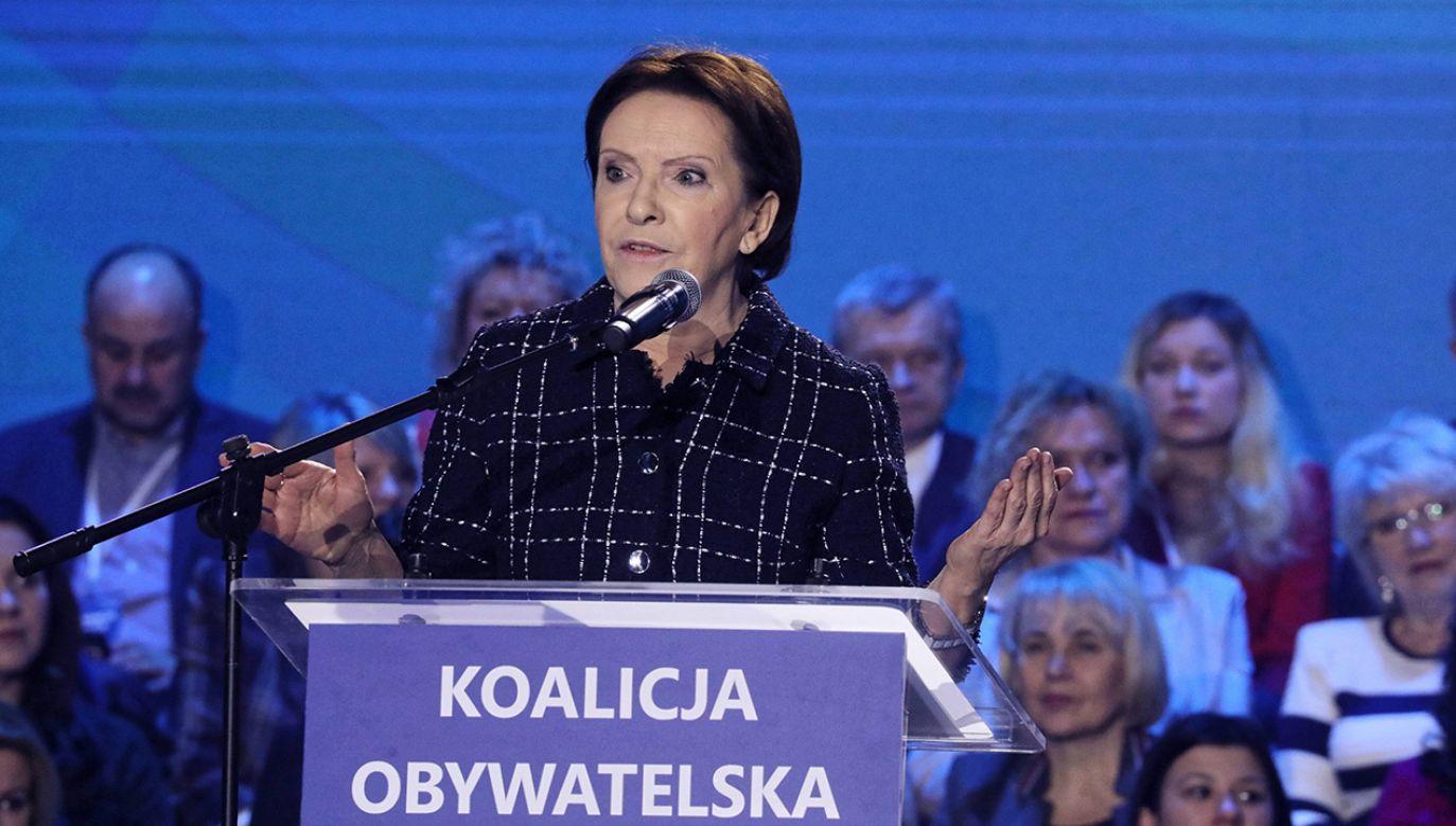 Była premier nie chce debaty w język obcym (fot. arch. PAP/Tomasz Gzell)