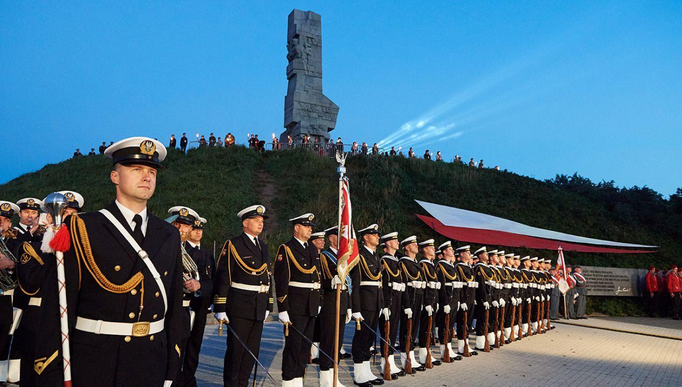 Apel Pamięci na Westerplatte zostanie odczytany przez oficera Marynarki Wojennej (fot. arch. PAP/Adam Warżawa)