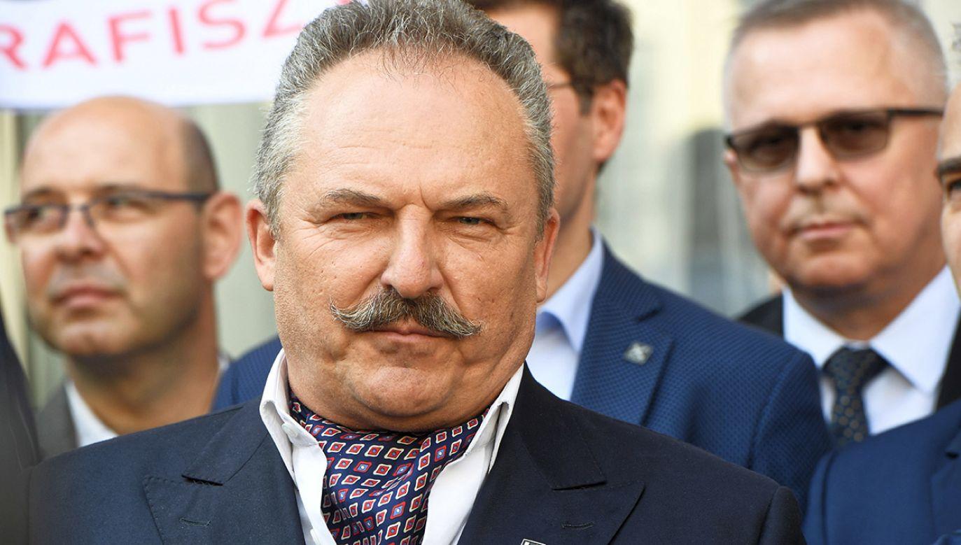 Marek Jakubiak chciałby wejść do drugiej tury jako kontrkandydat Patryka Jakiego (fot. arch.PAP/Radek Pietruszka)