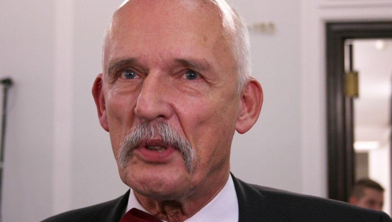 Janusz Korwin-Mikke zapowiedział, że nie będzie kwestionował wyroku sądu (fot. Flickr/Piotr Drabik)