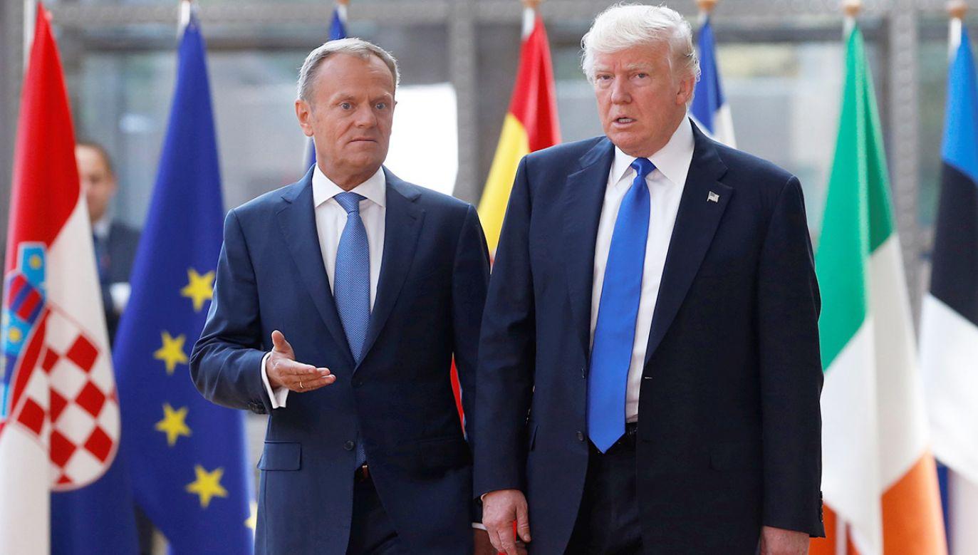 """""""Może on jest dość otwarty ze mną, ponieważ jesteśmy imiennikami"""", mówi szef Rady Europejskiej (fot. REUTERS/Francois Lenoir)"""