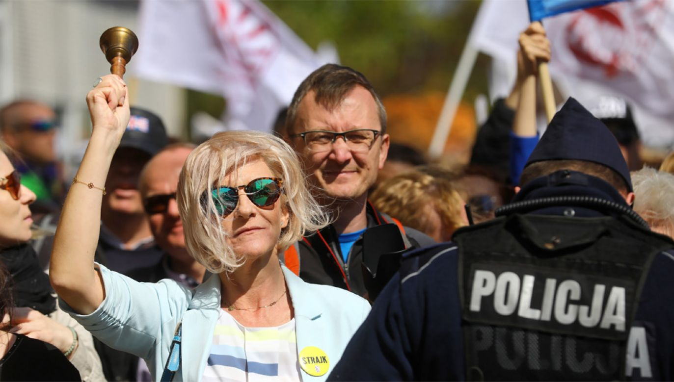 Strajk nauczycieli trwa od 8 kwietnia (fot. PAP/Rafał Guz)