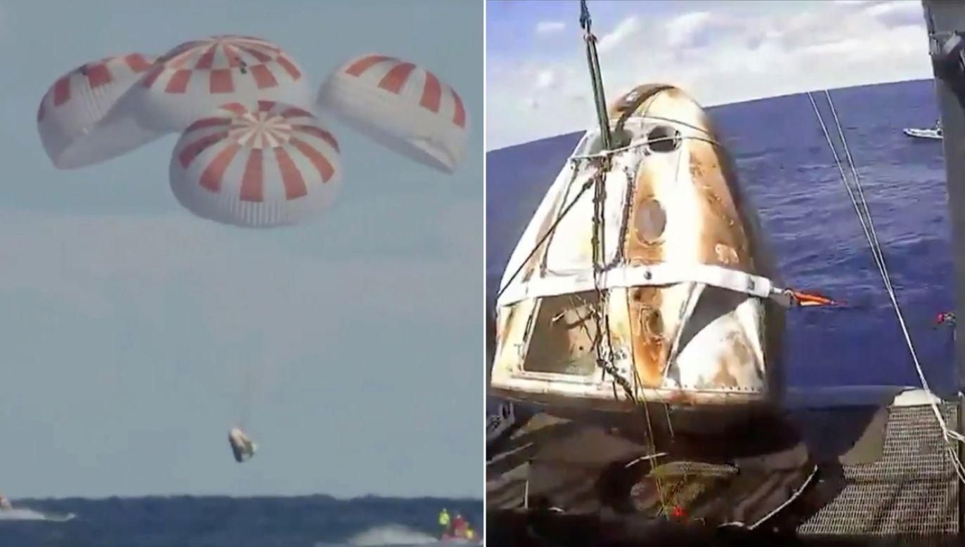 SpaceX zapewnia, że załogowa kapsuła jest najbezpieczniejszym pojazdem kosmicznym, jaki do tej pory powstał (fot. REUTERS/NASA)