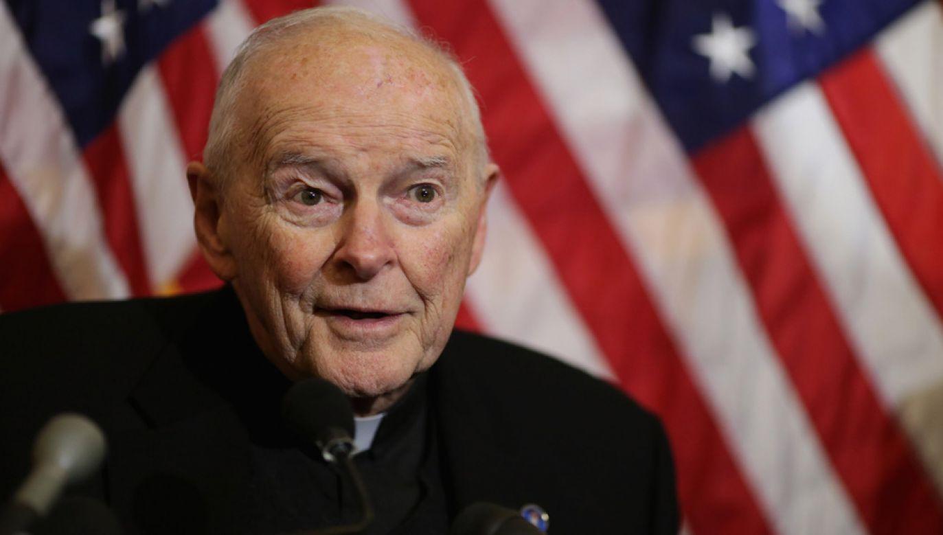 Kardynał Theodore McCarrick nie przyznaje się do winy (fot. Chip Somodevilla/Getty Images)