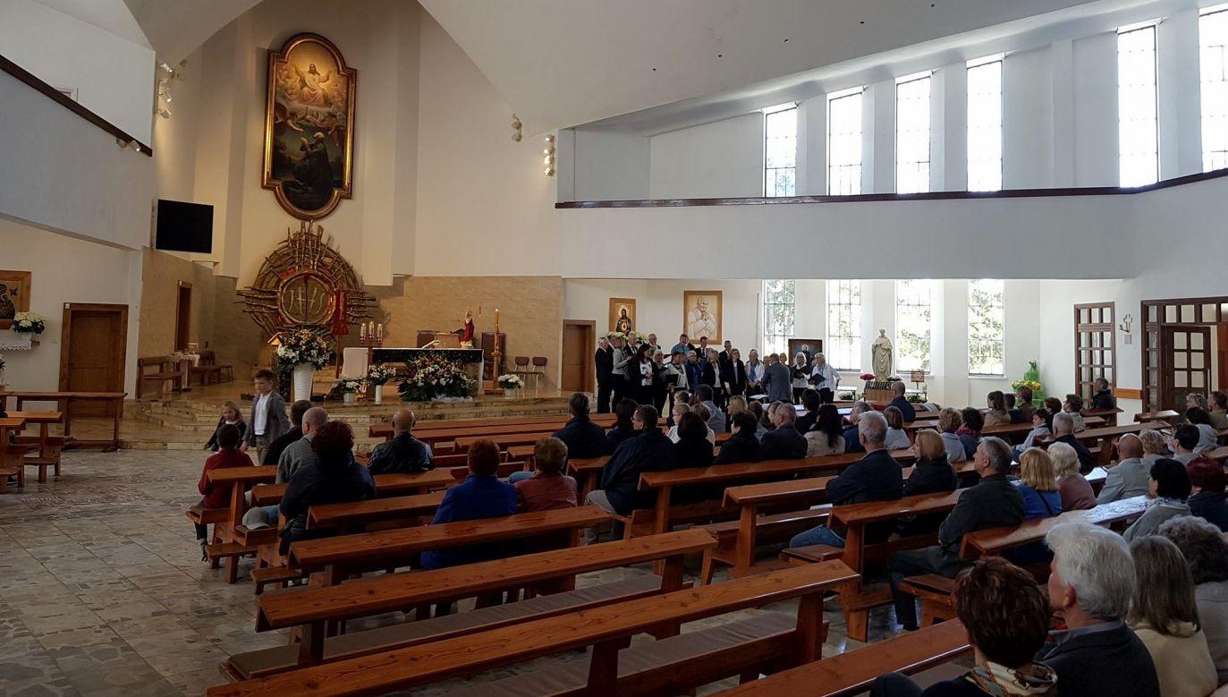 The church of St. Ignatius Loyola in Jastrzebia Góra. Photo:facebook/ parafia Jastrzębia Góra