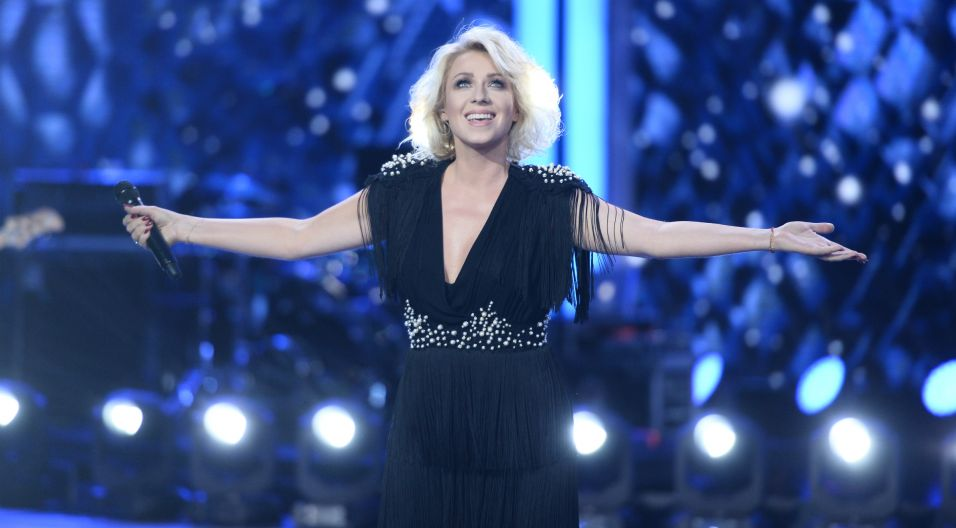 Na zakończenie koncertu Premier, wystąpiła wielokrotna laureatka opolskich nagród Katarzyna Cerekwicka! (Fot. J. Bogacz/TVP)