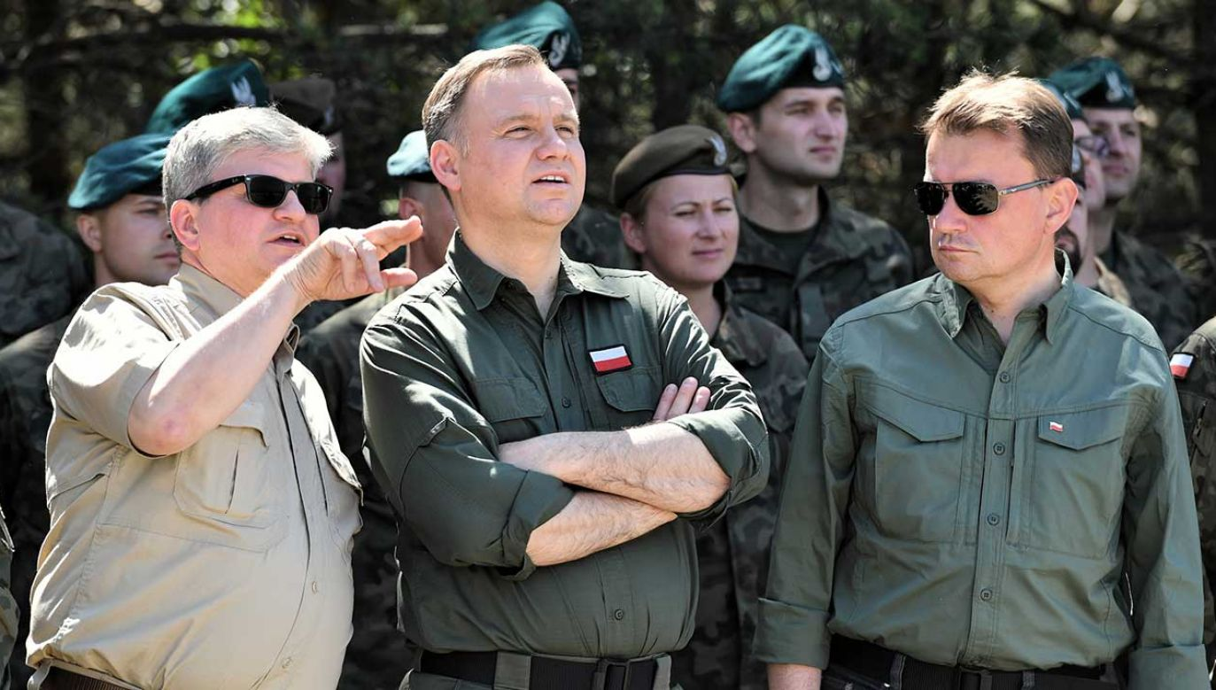 """Gra """"Kierownictwo"""" to część ćwiczeń """"Kraj"""" (fot. arch. PAP/Piotr Polak)"""