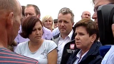 Premier Szydło u poszkodowanych przez nawałnice w Małej Kloni