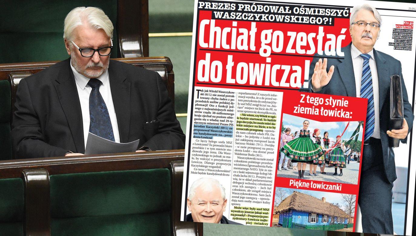 Witold Waszczykowski to były minister spraw zagranicznych (fot. arch.PAP/Radek Pietruszka/fakt.pl)