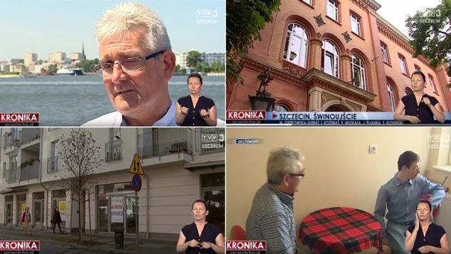 Pan Stefan Pachulczak ze Świnoujścia kupił mieszkanie kilka lat temu (fot. TVP Info)
