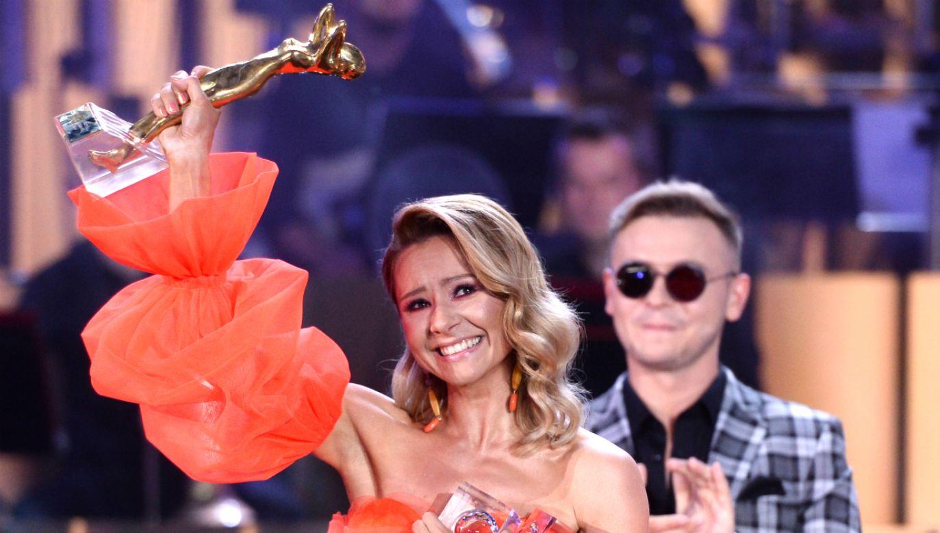 Artystka otrzymała również nagrodę ZAIKS (fot. TVP)