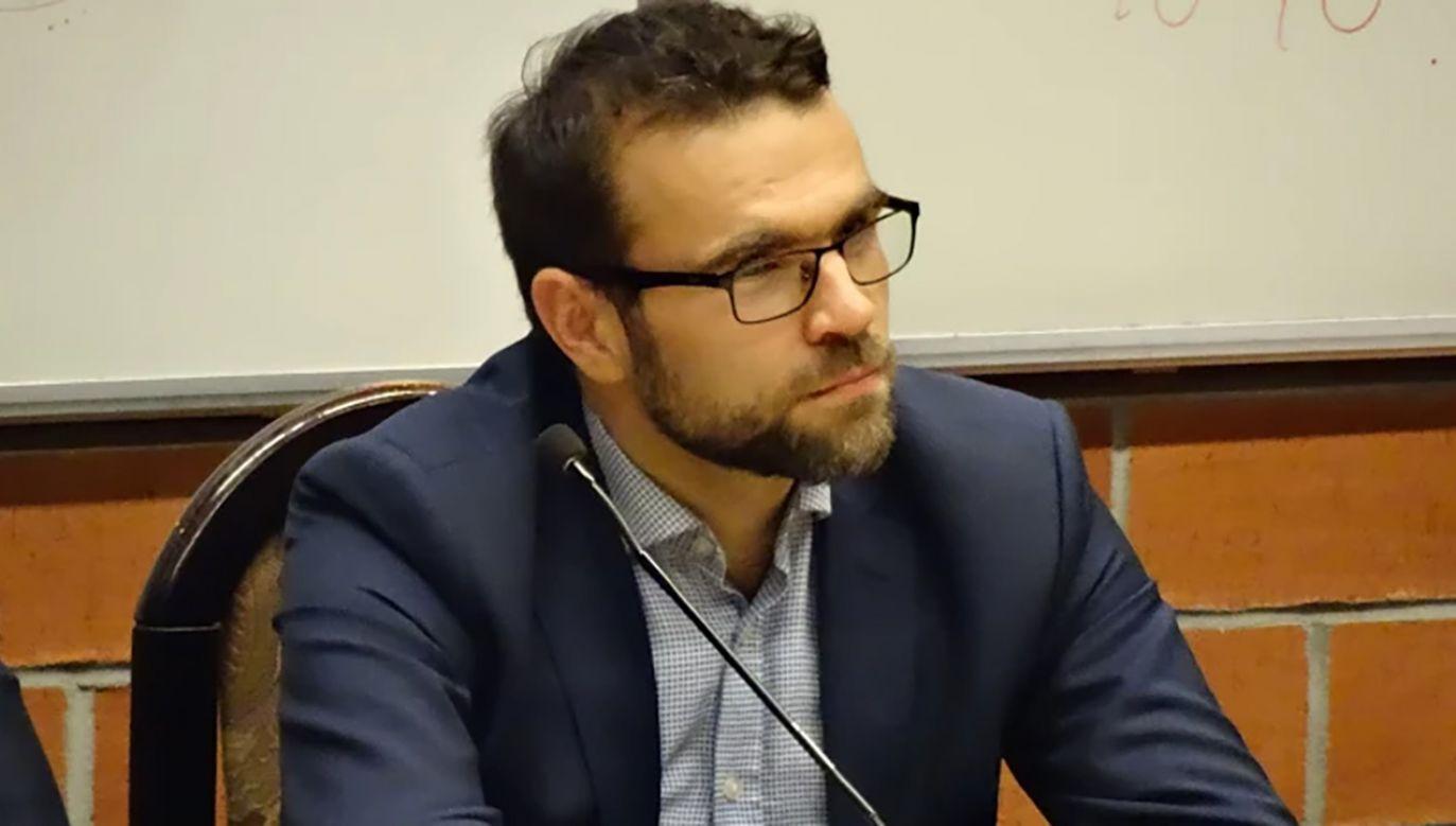 O nowej roli Bartosiaka poinformował wiceminister infrastruktury Mikołaj Wild (fot.  FB/Stowarzyszenie KoLiber)