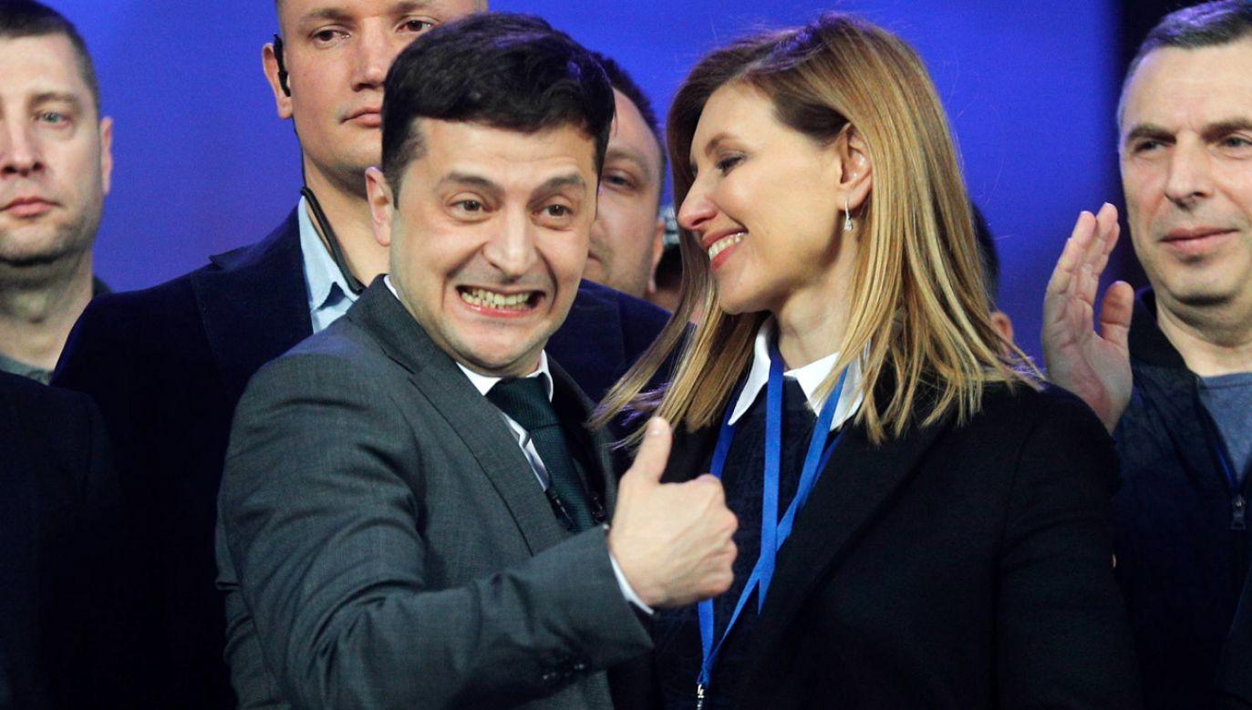 Showman i producent telewizyjny Wołodymyr Zełenski (fot. arch PAP/ SERGEY DOLZHENKO)