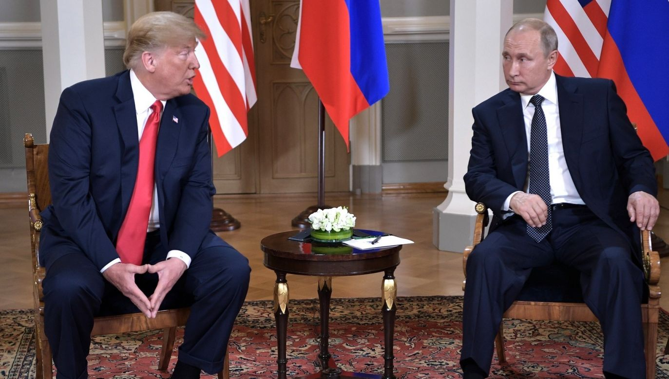 Russian President Vladimir Putin (R) and US President Donald Trump (L) are seen during their meeting in Helsinki, Finland on July 16, 2018. Photo: Kremlin Press Office/Handout/Anadolu Agency/Getty Images