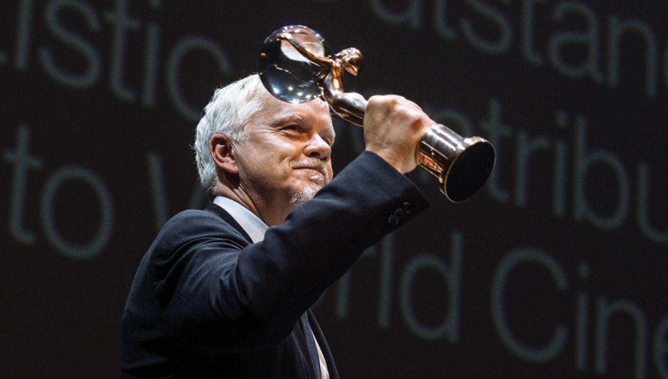 Tim Robbins w Karlowych Warach odebrał Kryształowy Globus (fot. PAP/EPA/HN - Lukas Biba)