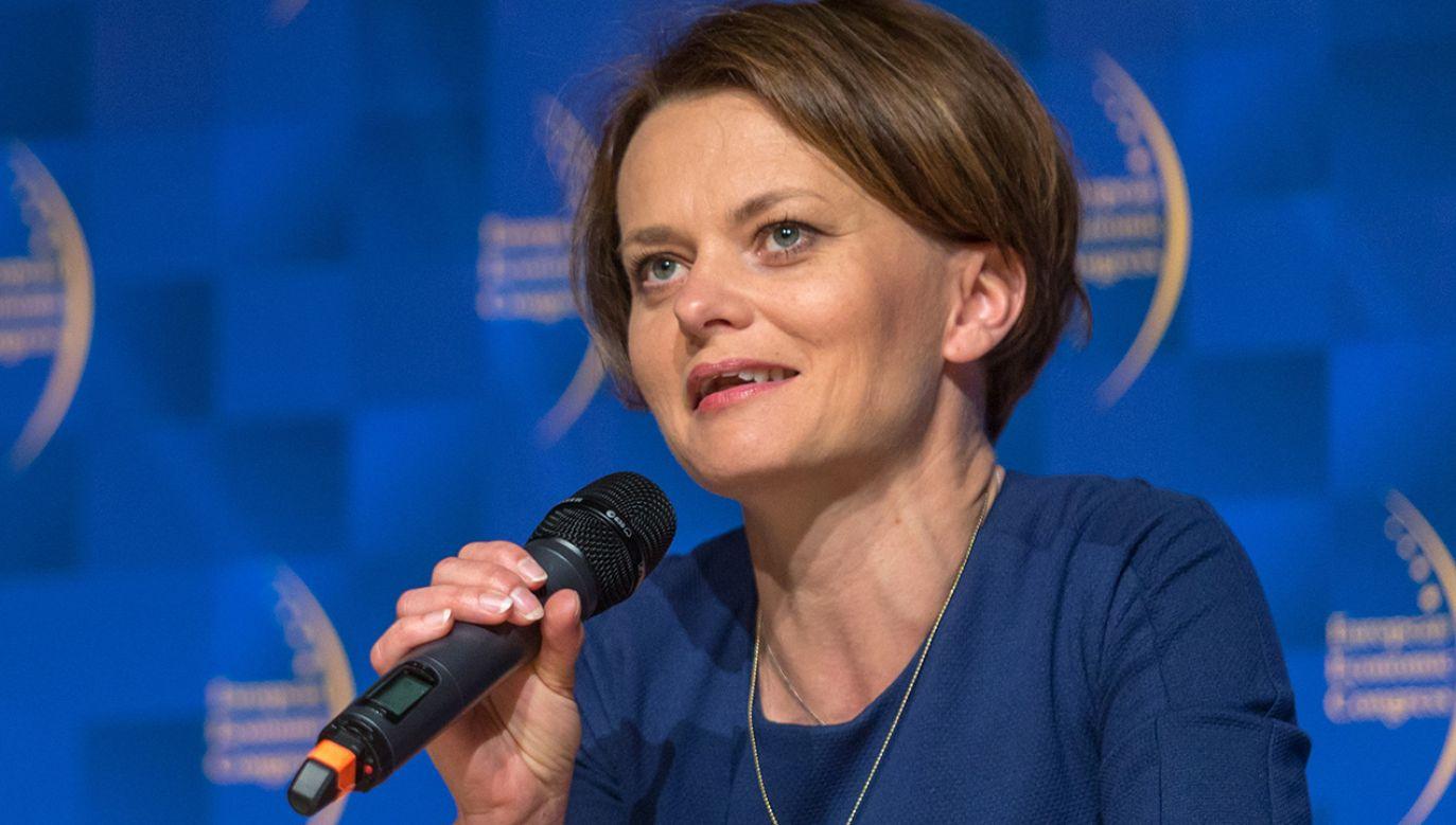 Minister przedsiębiorczości i technologii Jadwiga Emilewicz (fot. PAP/Andrzej Grygiel)