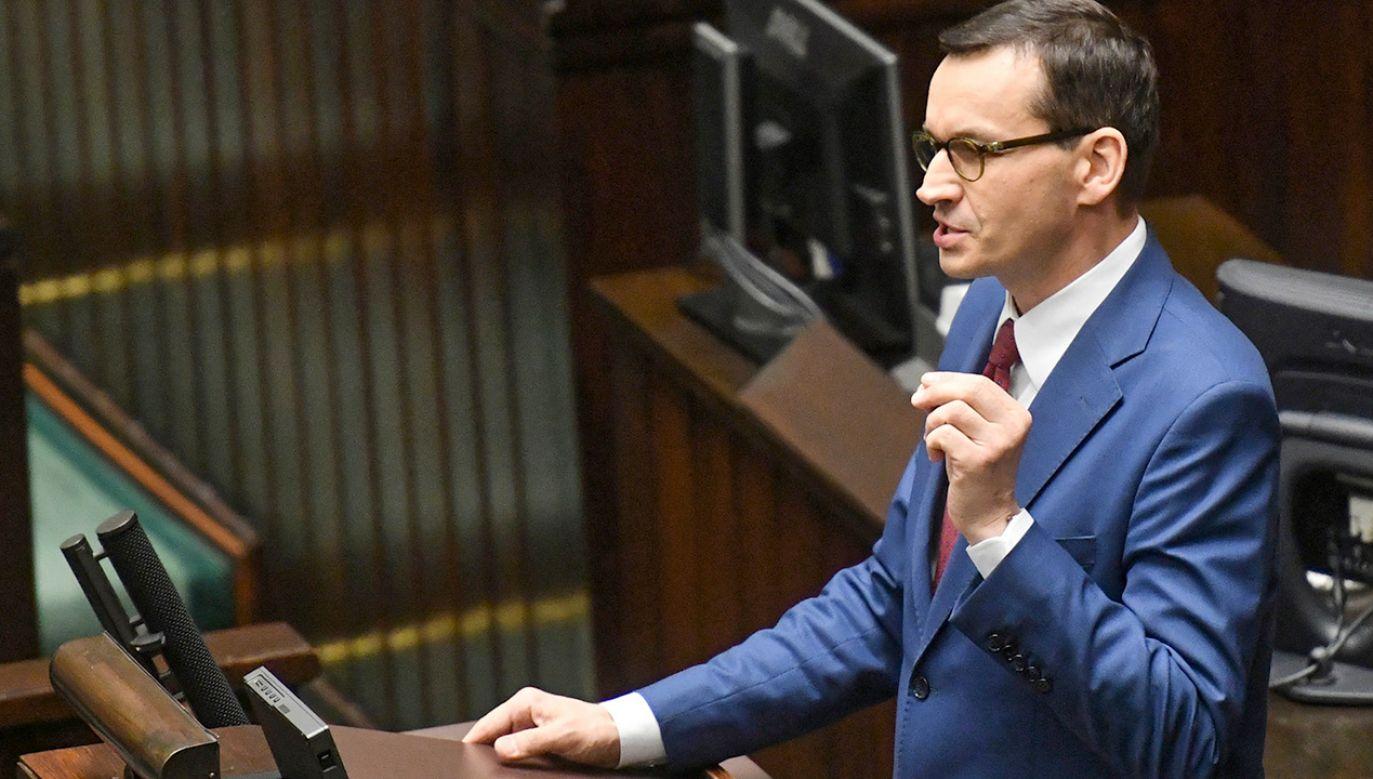 Premier Mateusz Morawiecki (fot. PAP/Piotr Nowak)