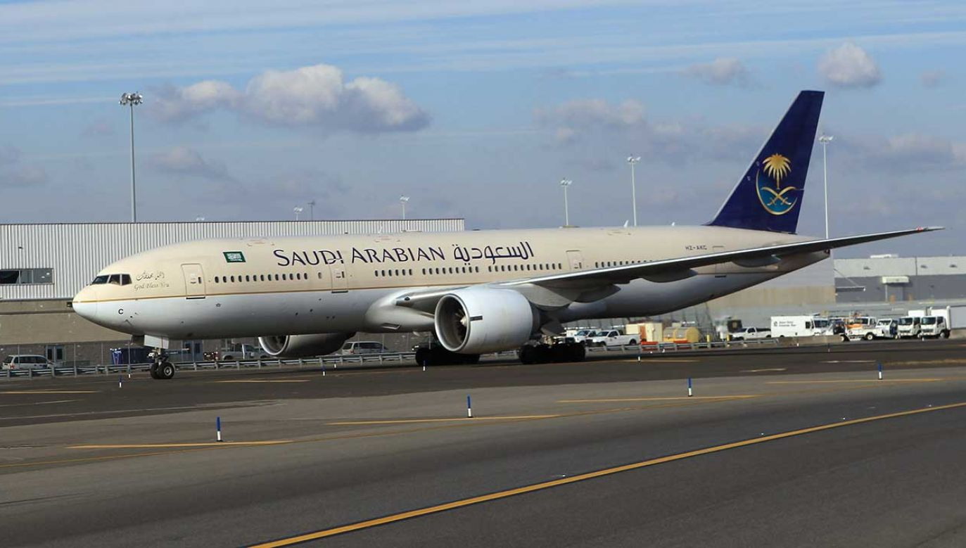 Samolot linii Saudi Arabian Airlines (fot. Bruce Bennett/Getty Images)