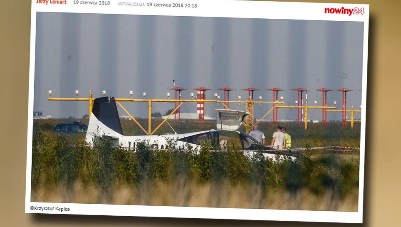 Na szczęście nikt z będących na pokładzie nie odniósł poważnych obrażeń (fot. Nowiny24.pl)