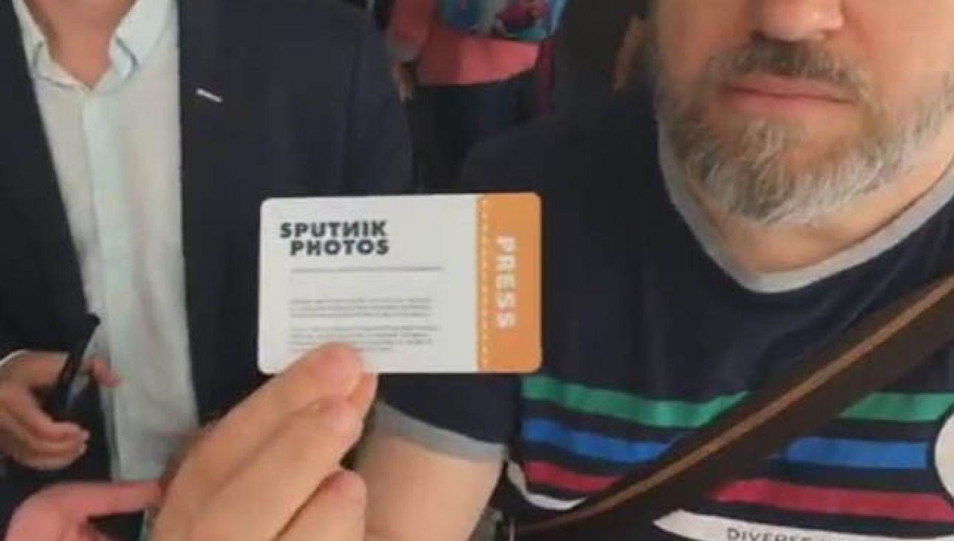 Dziennikarz Sputnika postanowił wejść do sejmu pomimo zakazu (for. FB)