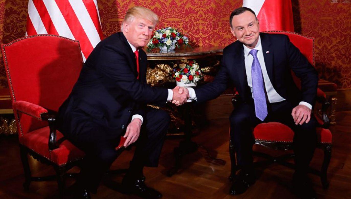 Prezydent USA Donald Trump podczas wizyty w Polsce (fot. (fot. REUTERS/Carlos Barria)