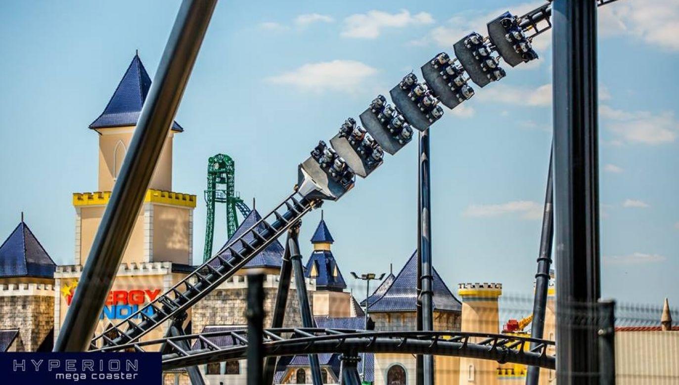 Megacoaster Hyperion will soon be opened. Photo: Facebook/Energylandia