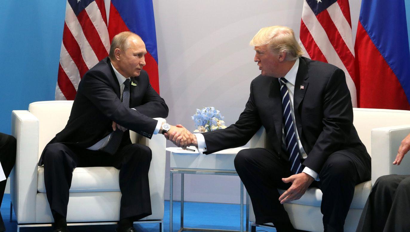 Donald Trump niewiele oczekuje od spotkania z Władimirem Putinem (fot. Wikimedia/Kremlin ru)