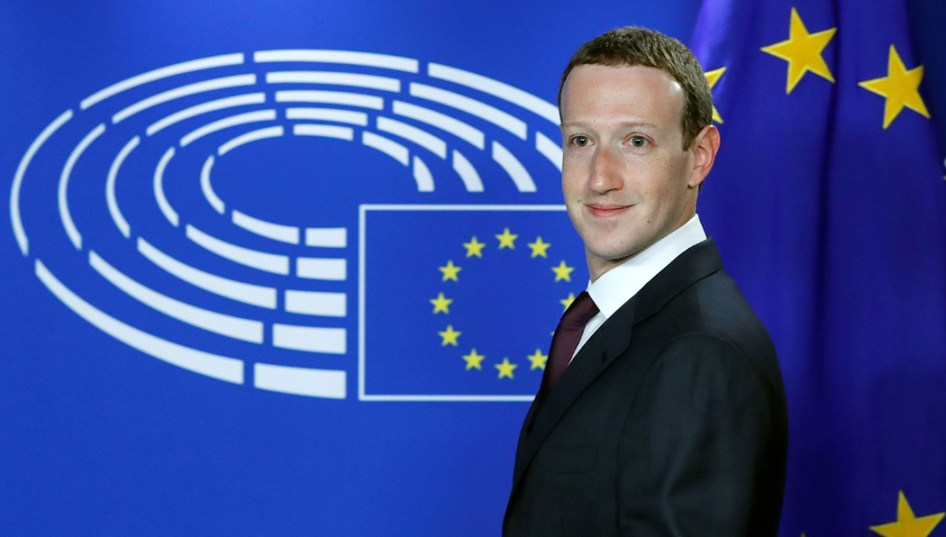 Mark Zuckerberg w Parlamencie Europejskim (fot. REUTERS/Yves Herman)