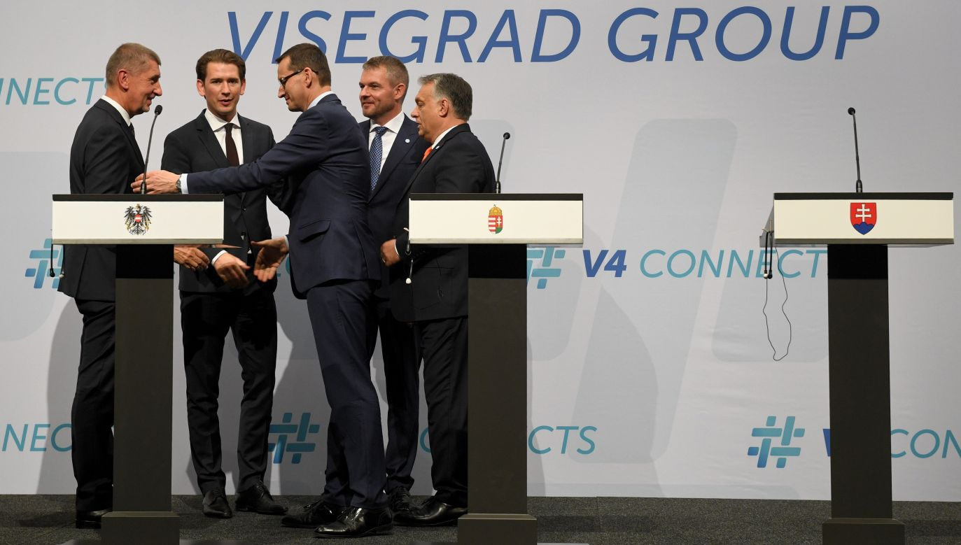 The Visegrád Group group was joined by Austrian chancellor Sebastian Kurz to discuss key European issues. Photo: PAP/Radek Pietruszka