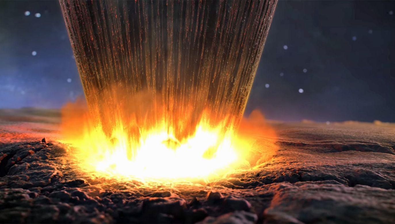 Średnica meteorytu, który uderzył w Ziemię, wynosiła około 800 metrów (fot. NASA)